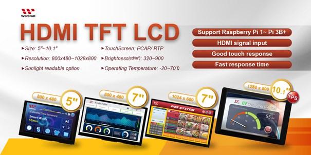 Winstar HDMI TFT-LCD Series - Nijkerk Electronics